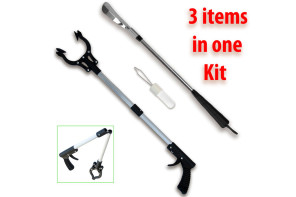 GTP Arthritis Aids Kit with Reacher Grabber, Long Handled Shoe Horn and Button Hook